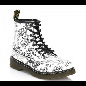 DR MARTENS WIGGY WORLD SOFTY Black + White CHILD